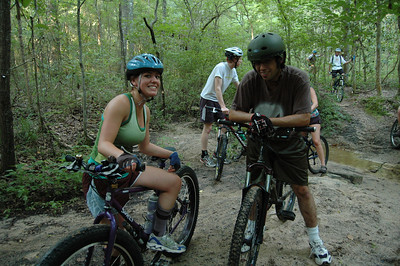 Kayla looks pretty relaxed on the Pugsley. That bike has been all over this trail a zillion times.