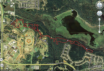Lastly, my running track from the Yellow Wave. Here I did get the full Gun Range Loop minus the smaller interior climb from #31 - #33. No one was on that climb when I got down from atop the Gun Range, so I didn't need to head up. I also skipped the lower K-9 Loop, as all were clear from there, as best I could tell. From this:  http://trail.motionbased.com/trail/activity/6962179