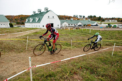 Verge New England Cyclocross Race at Pinelands in New Gloucester, ME on October 24, 2010. Photograph taken by Portland, Maine based photographer Jeff Scher.