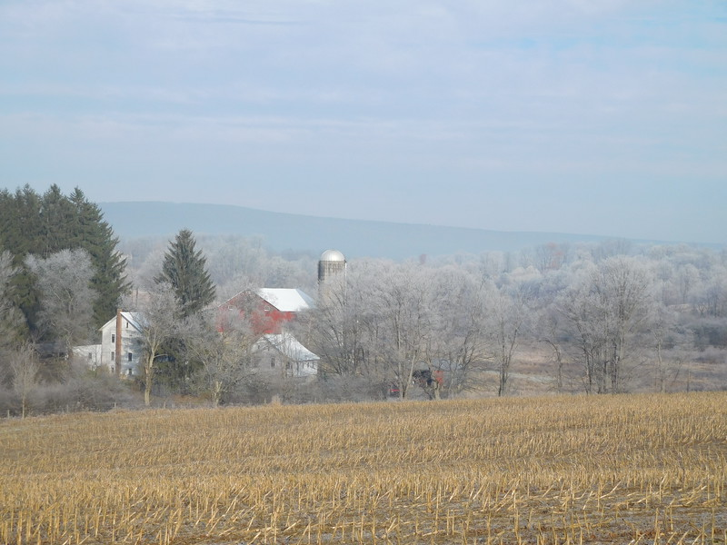 On the way to Johnstown, it was a frosty morning.