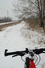 Approaching 120th street. I'm going off the Snowmobile trails and continuing on the old CRANDIC rail bed as long as possible until Ely (Seven Sisters Road)