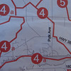 Snowdrifters Trail map detail. Following the 4's.   The multi use trail from Lake MacBride Park entrance to Solon is the section marked 4a along the bottom of the map.