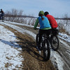 The North Shore Trail along Lake Macbride was a mix of snow sections (good) and mud (bad)