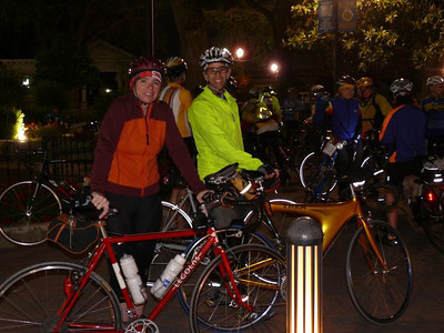 Veronica and Scott are all smiles at the start
