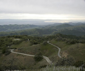 "The ""front"" side of Mt. Hamilton, looking toward San Jose."