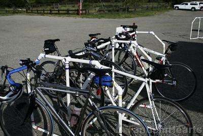 Nifty bike racks, doing a fine job
