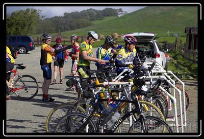 Bicycle parking at Morgan Territory