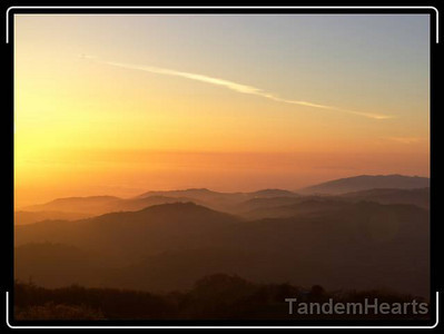 Sunset from Mt. Hamilton.