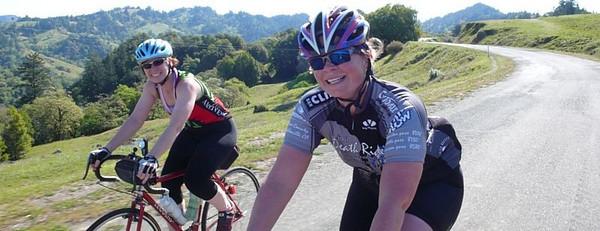 Rolling along King's Ridge with Sarah.