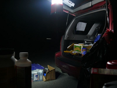 While there was no official commitment to any rest stops after mile 150, Thom setup a small rest stop at mile 185. Most of the riders didn't really want anything, except to be done with the ride, but that was OK because Thom didn't have very much.