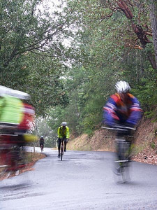 Flying up Howell Mountain Road.