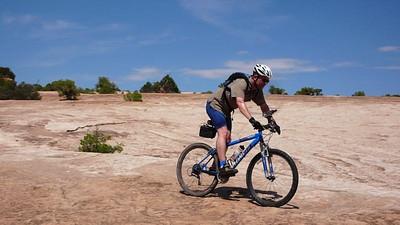 Cruising down the Klondike Bluffs trail in Moab.
