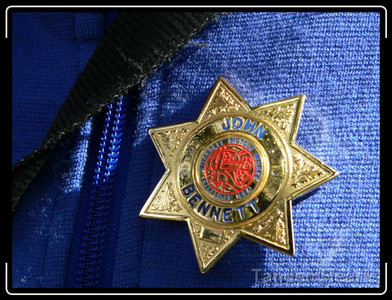 The Rivendell employees were sporting these shiny badges