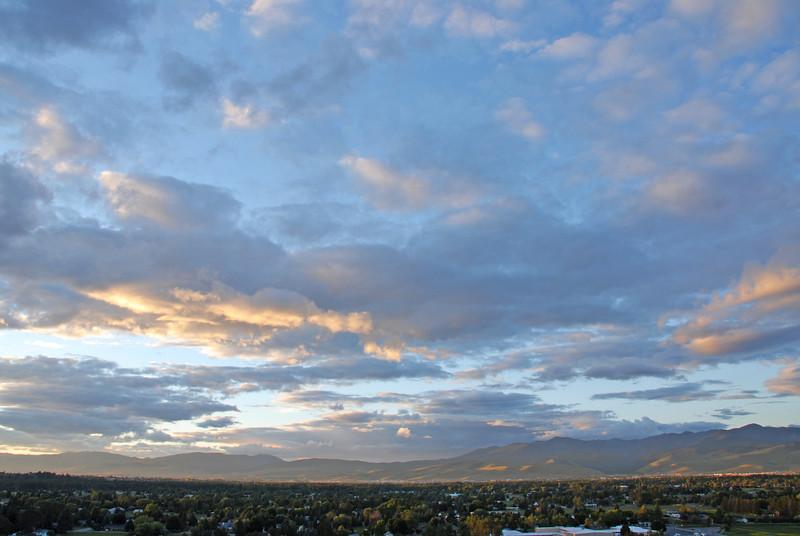 Big sky over Missoula