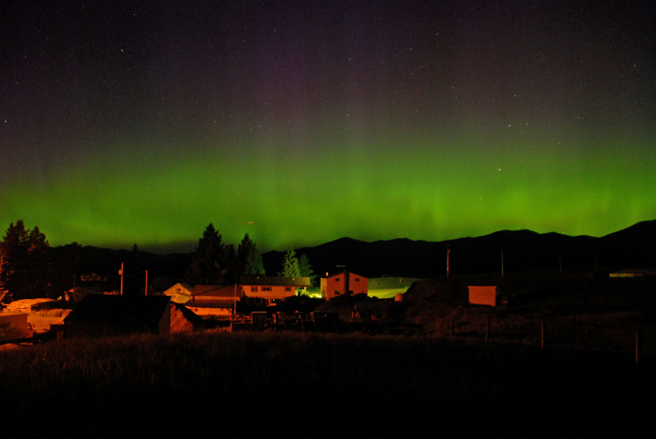 Northern lights in Ovando