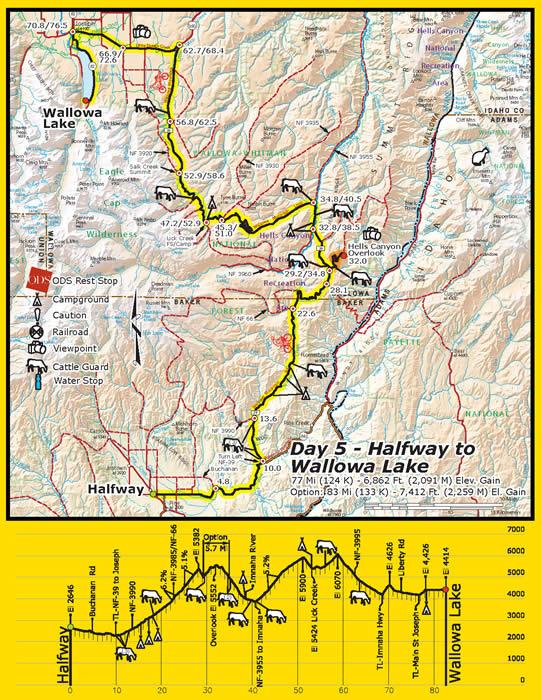 Halfway Oregon Map.Cycle Oregon 2008