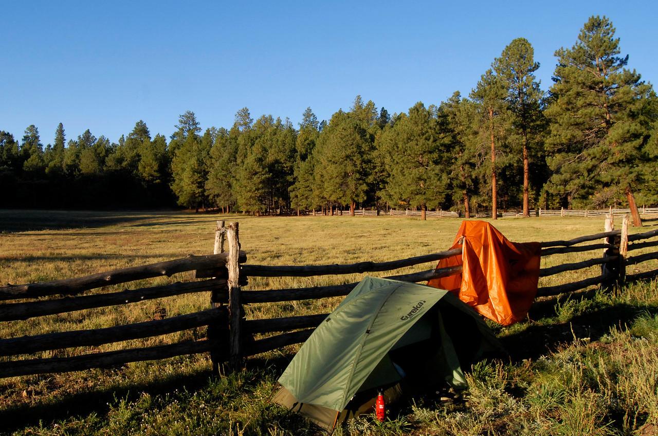 Camp at Jacob Lake.