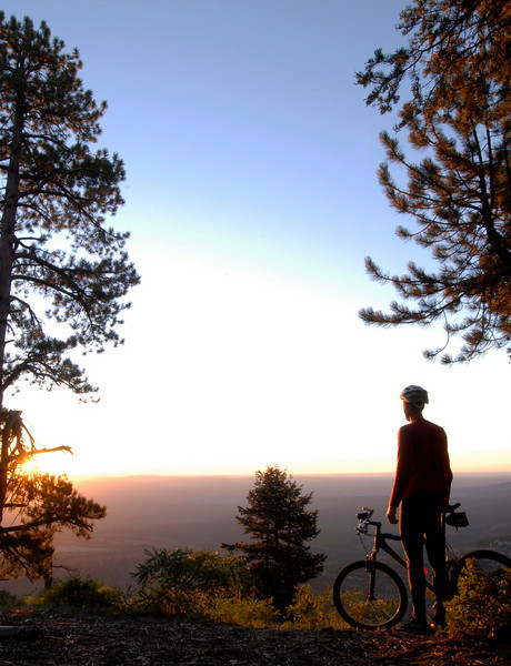 Self-portrait at the East Rim, sunrise.