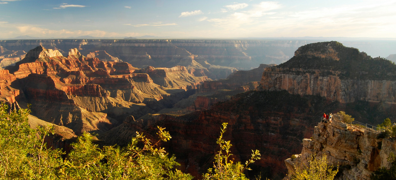 Angel Point behind the North Rim Lodge.