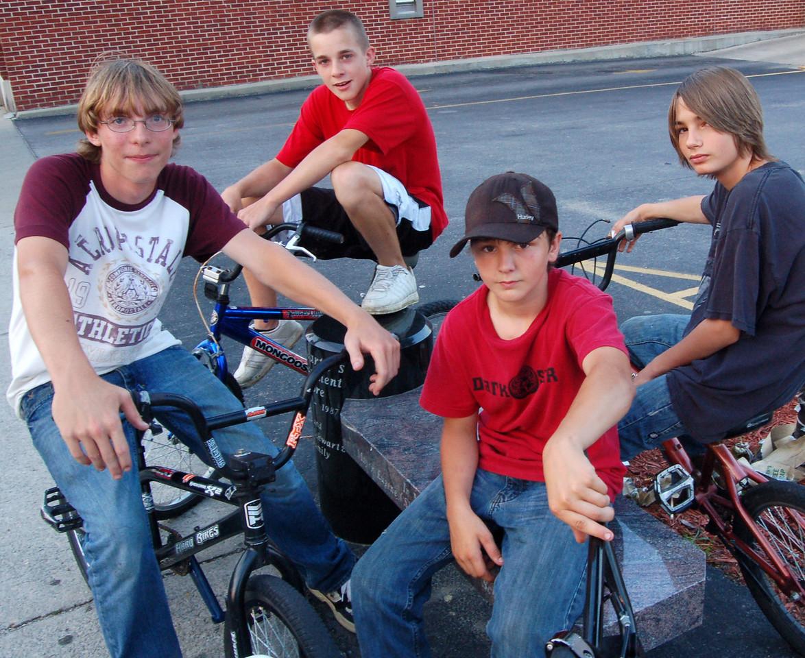 The local biker gang, Peebles.