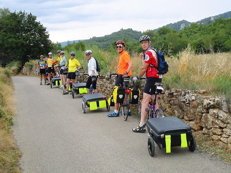 A scattering of images from the French Connection Bicycle Tour,2004. Photographer/riders were Bill Bartlow, Jean Gemmill, Joyce Keckler, Bill Keckler, Tony Le, Diane Legore, Harold Legore, Tom Sawyer, Kriss Thompson, and Bob Thompson.