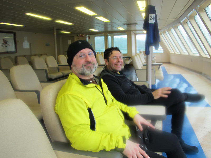 VIP lounge on the ferry back home.