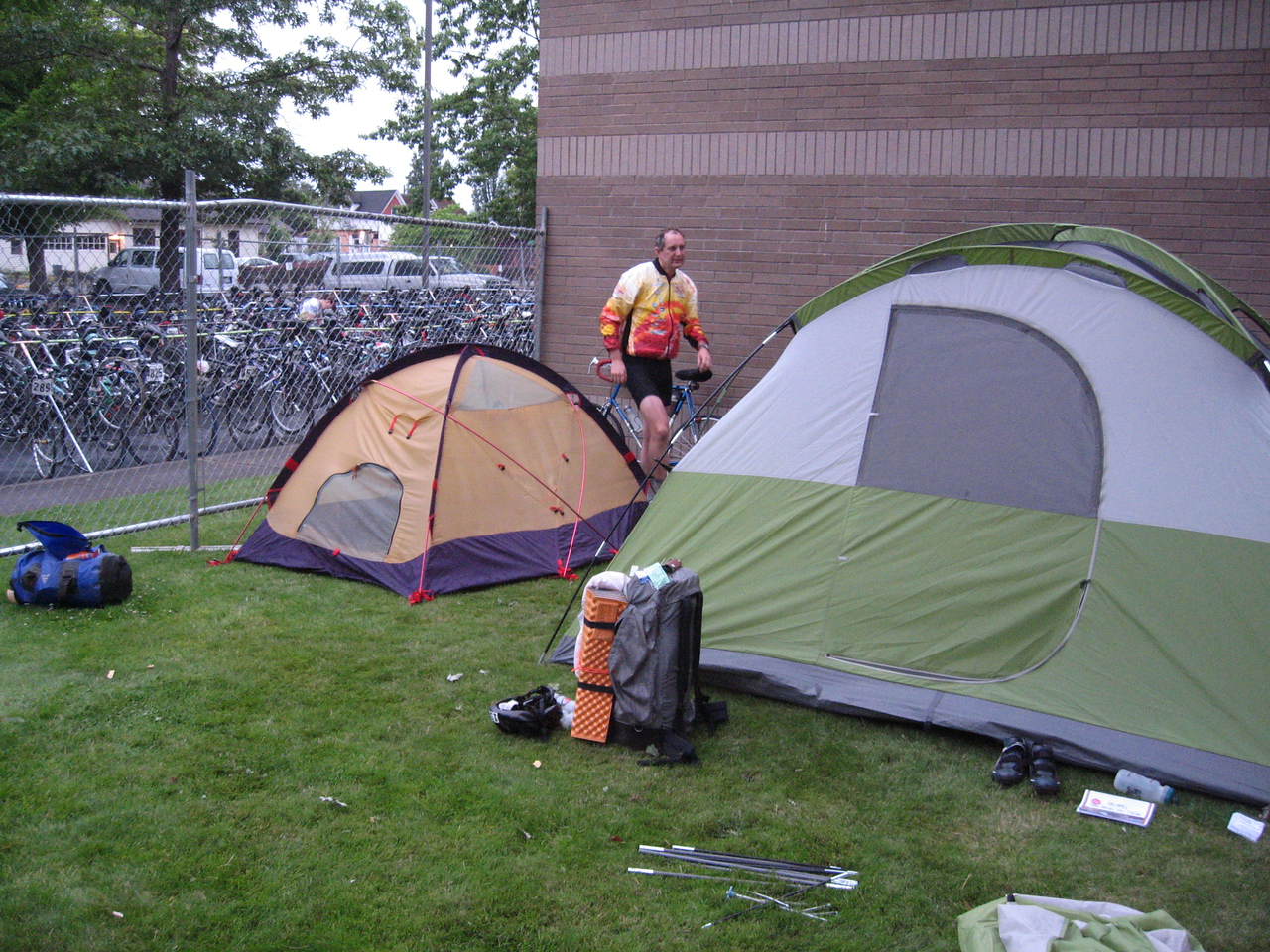 Camping at Centralia Community College,