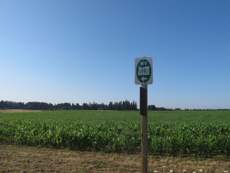 Route signs for the Willamette Valley route.