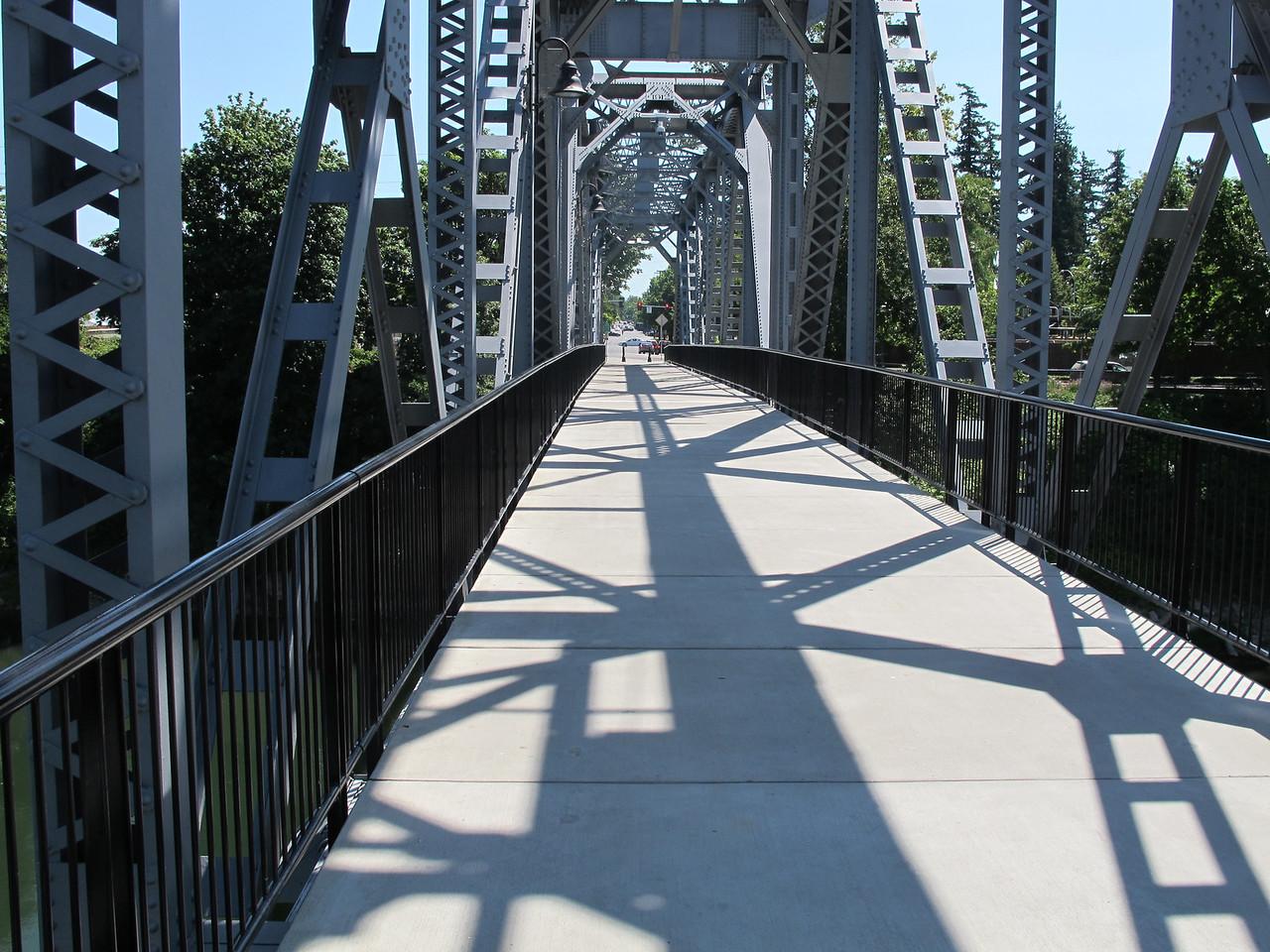 Repurposed railway bridge in Salem.