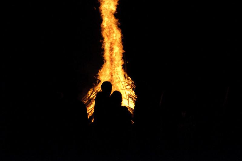 Fall Brawl bonfire