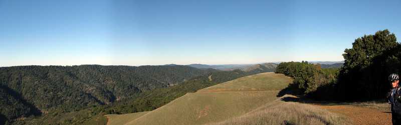 "Panoramic from ""smokers knoll"", Pine Mountain Loop, Marin County, Ca"