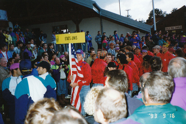 Team U.S.A - Dave Weins holding the flag, Tinker Juarez, etc?