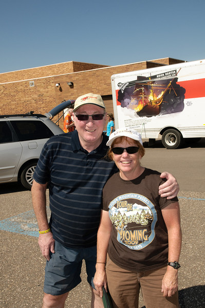 Ray Taarnby with the prettiest girl in Wyoming, Amber Travsky.