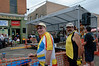 Ray Taarnby and Lou Awody at street festival in Laramie.