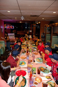 Team meal before Race day. With 26 racers and crew there were a lot of introductions.