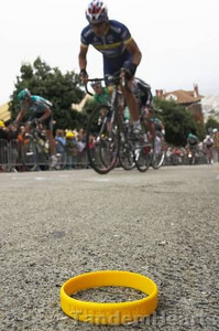 Livestrong - The motto of the Lance Armstrong Foundation.