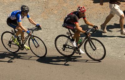 Tour of CA 2013 - 1 Janier Acevedo leads Leopold Konig through Devil's Elbow on the way to Konig's stage win.