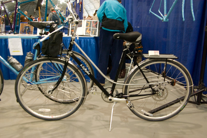 Front and rear racks are brazed onto the frame
