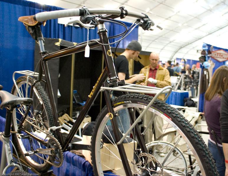 Hunter Cycles mountain bike with custom racks