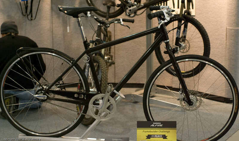 This bike won the Shimano Alfine competion.  I was disappointed by it's lack of fenders
