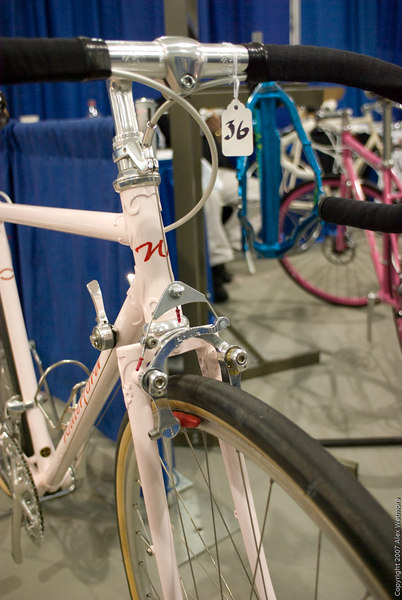 Lots of fender clearance here (compare it to the Jonny Cycles bike with these brakes)