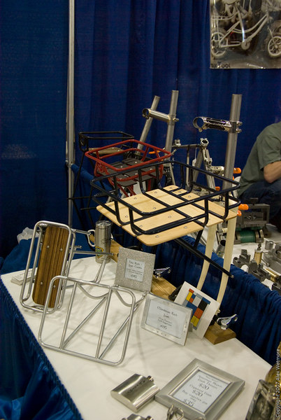 Ahearne had a variety of custom rack and fork combos to show