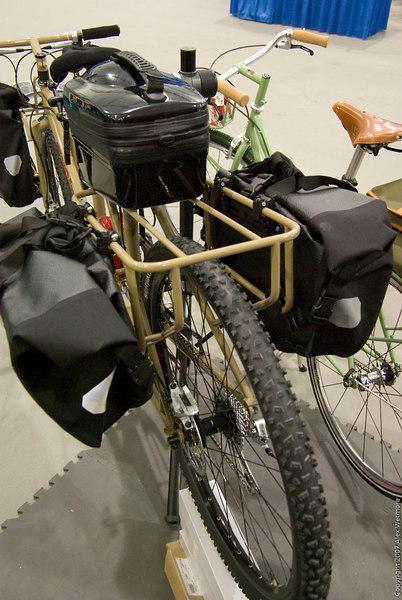 Rear rack.  It is designed around Ortlieb motorcycle panniers.