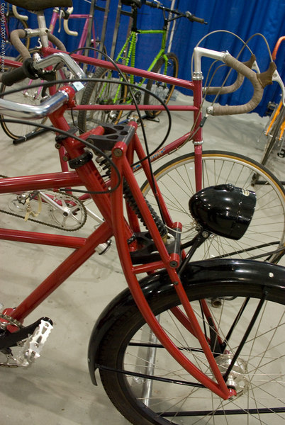 A complex fork/headset/suspension