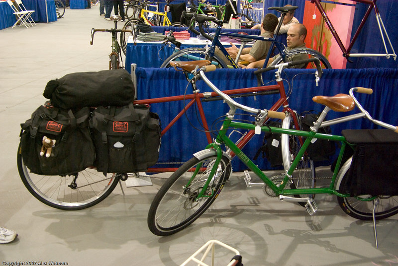 More variations on their cargo bikes.  The red one was setup for touring.