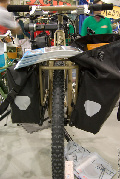 Rear rack.  It is designed around Ortlieb motorcycle panniers.
