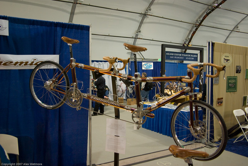 Dave Bohm's personal tandem.  The details and workmanship that went into this bike are amazing.