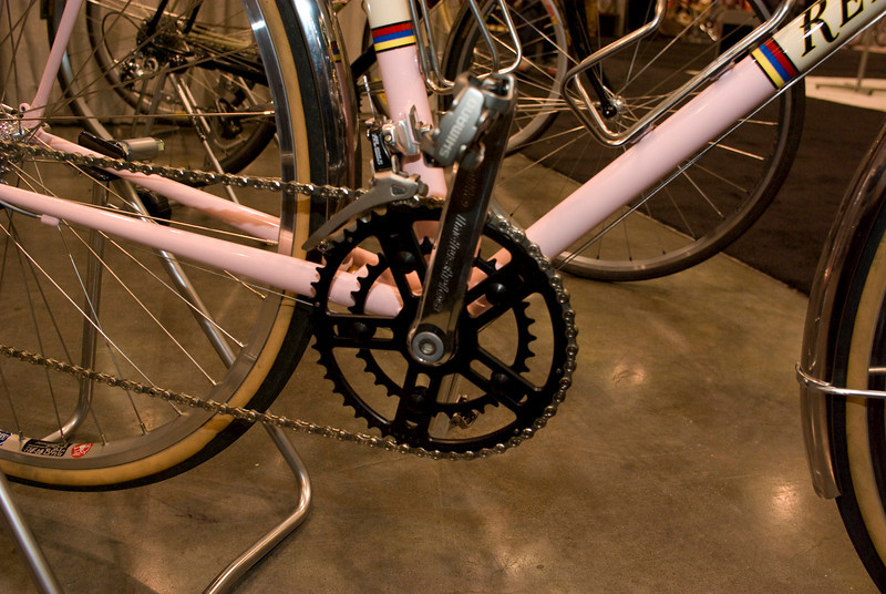 I like this White Industries wide range double crank.