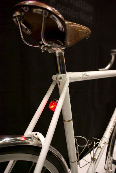 Custom taillight on a Peter Weigle frame.  These lights are only available on bikes from Peter Weigle and Curt Goodrich.