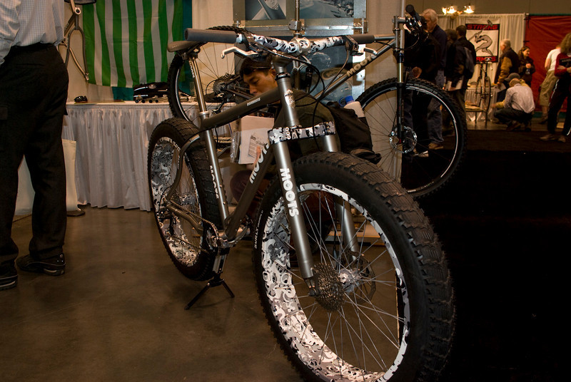 Moots snow bike built around Surly Pugsley tires.